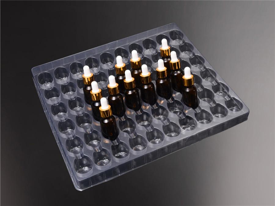 化妆品展示架吸塑包装盒