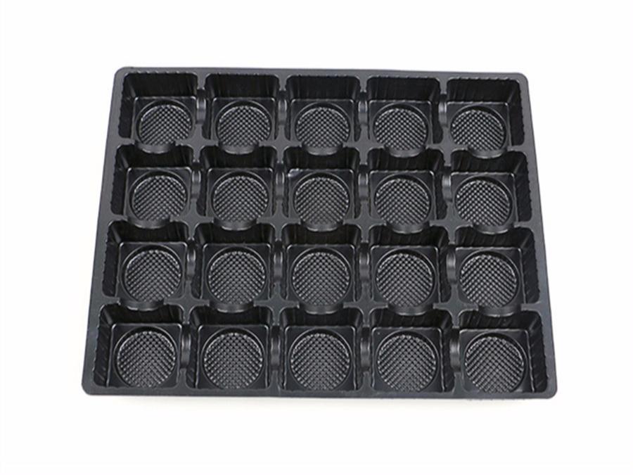 PS环保黑色20格食品塑料包装盒